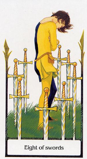 宝剑八; 古径塔罗牌